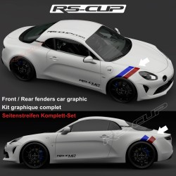 BLUE RED stripe decals kit for ALPINE A110 A110S PURE LEGEND