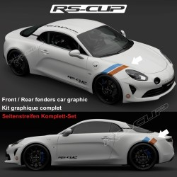 GULF STYLE stripe decals kit for ALPINE A110 A110S PURE LEGEND