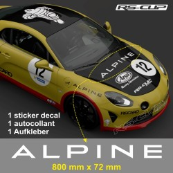 1 decal 80 cm ALPINE for A110