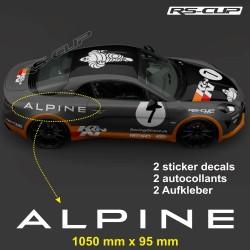 2  Aufkleber ALPINE 105 cm für A110