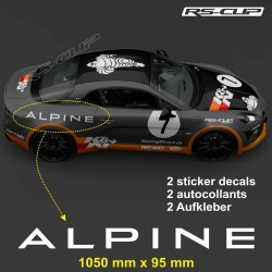 2 decal 105 cm ALPINE for A110