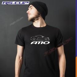 Men Tshirt  ALPINE A110 PURE LEGENDE PREMIERE EDITION Black and white