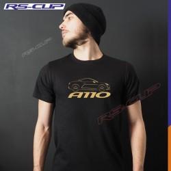Men Tshirt  ALPINE A110 PURE LEGENDE PREMIERE EDITION Black and golden