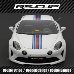 Triple stripe wide 27 cm sticker decal  for ALPINE A110 A110S PURE LEGEND