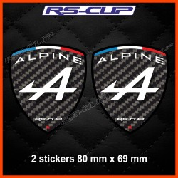 2 sticker decals RENAULT SPORT carbon look