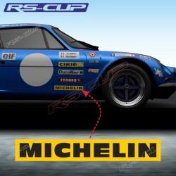 2 sticker decals MICHELIN for ALPINE RENAULT