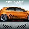 Large chequered flag decals for Renault MEGANE 4 RS
