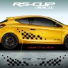 Large chequered flag decals for Renault MEGANE 3 RS