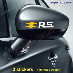 3 decals Renault Sport logo RS bicolour