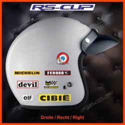 Set of Vintage sticker decal for helmet ALPINE RENAULT