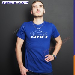 Männer T-Shirt ALPINE A110 PURE LEGENDE PREMIERE EDITION blau und weiss
