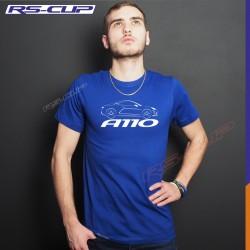 Men Tshirt  ALPINE A110 PURE LEGENDE PREMIERE EDITION Blue and white