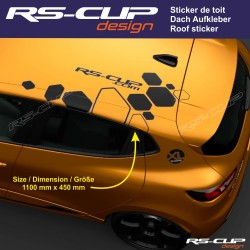 Roof Sticker RSi RENAULT SPORT RS-CUP decal for Twingo Clio Megane Captur