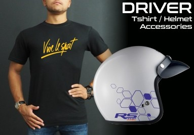 RS-CUP - Tshirt for Renault Driver and helmet decals