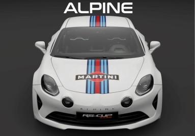 RS-CUP - Sticker Decals ALPINE A110